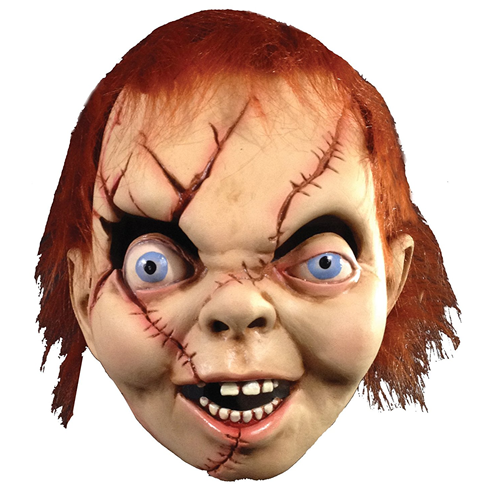 La BAMBOLA ASSASSINA Chucky Maschera-Halloween Horror Costume Accessori Bambola Chucky